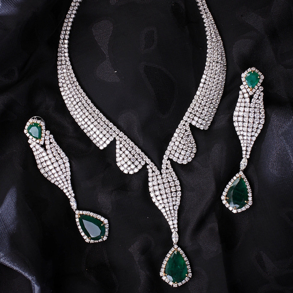 Diamond & Emerald Love Parure