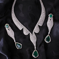 Emeralds & Diamonds Love Suite (123.27 ct Emeralds & Diamonds) in White Gold