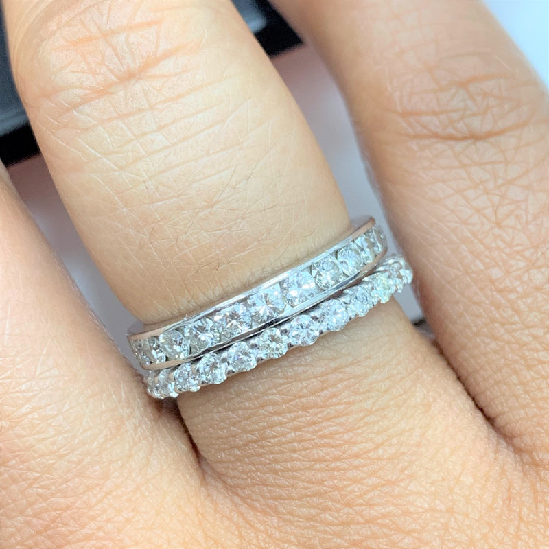 Almost Eternity Diamond Band Ring (0.81 ct Diamonds) in White Gold