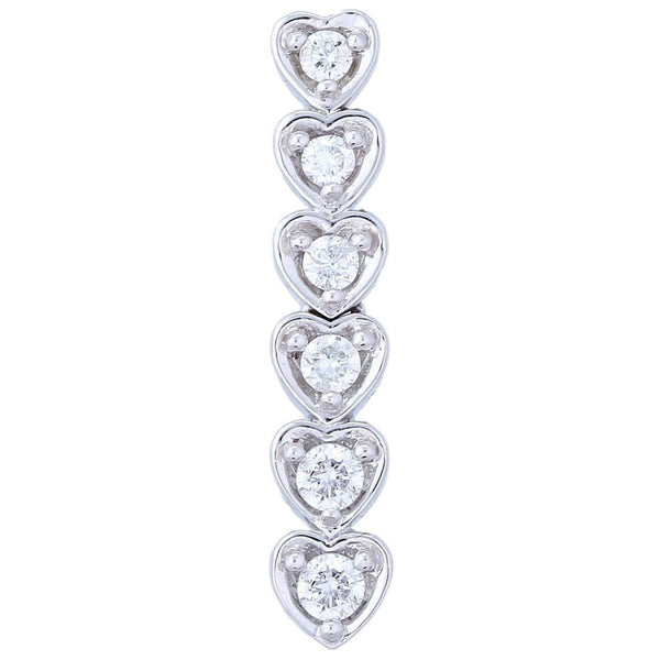 Journey Hearts Pendant (0.98 ct Diamonds) in White Gold