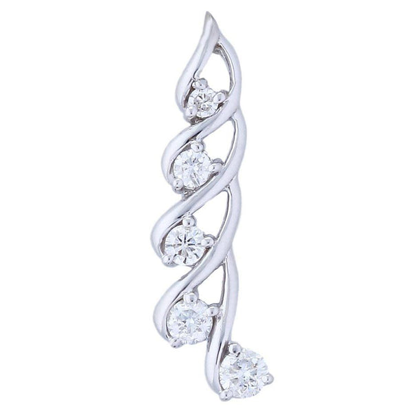Journey Tales of Time Pendant (0.50 ct Diamonds) in White Gold