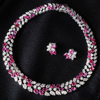 Bruma Ruby & Diamond Floral Suite (79.44 ct Diamonds & Rubies) in White Gold