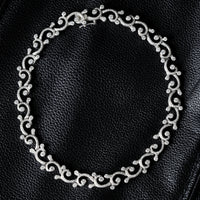 Waves & Tides Necklace (12.16 ct Diamonds) in White Gold