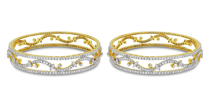 Bloom Bangles Set (14.15 ct)