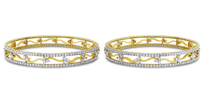 Sheena Diamond Bangles (10.59 ct Diamonds) in Gold
