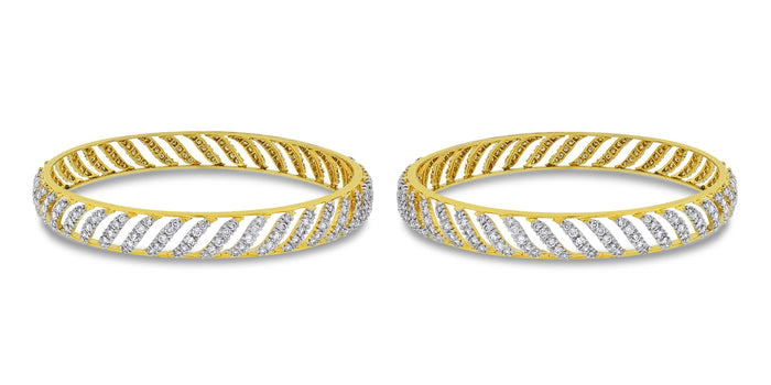 Curves Diamond Bangles Set (7.70 ct)