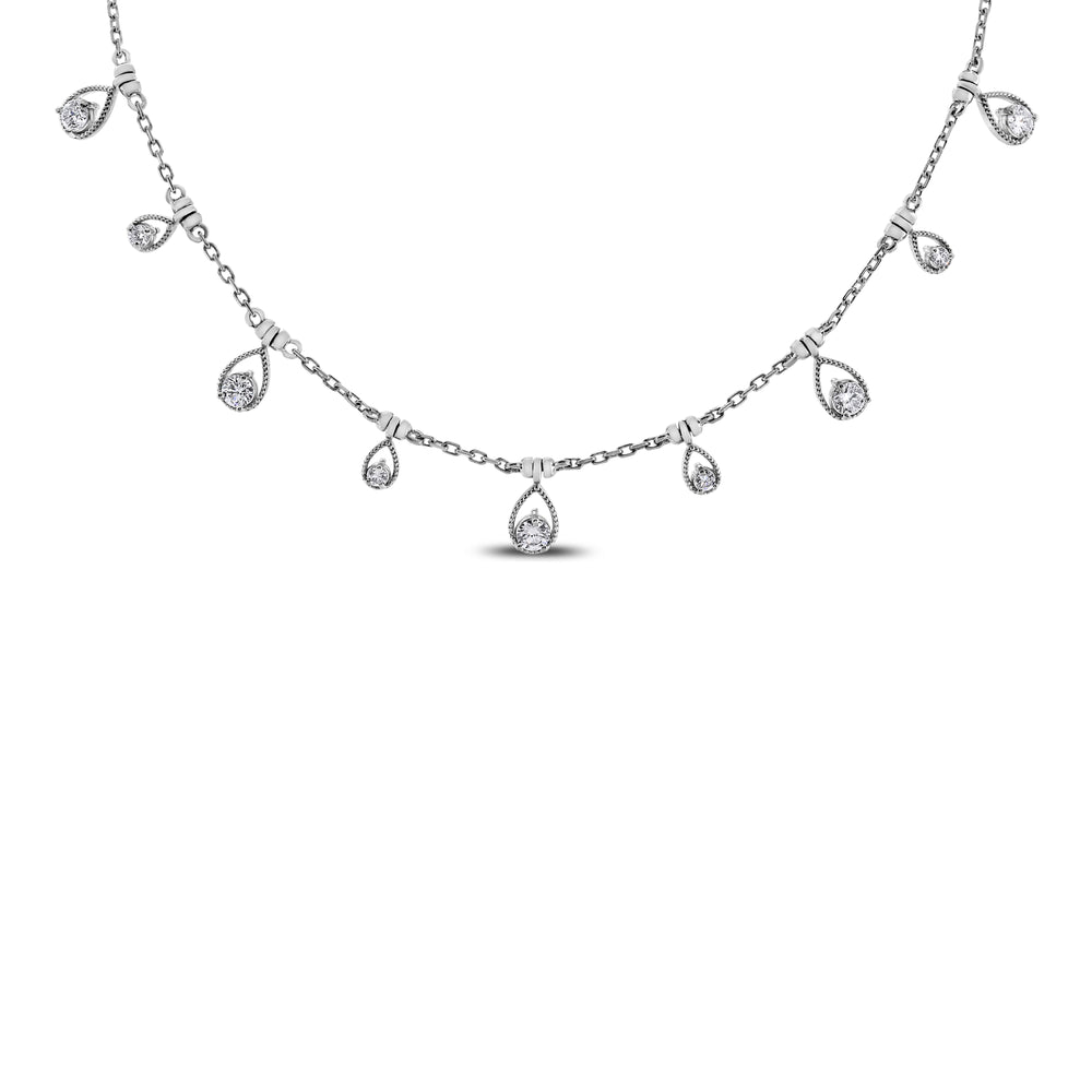 Drops of Jupiter Necklace (0.61 ct Diamonds) in Rose Gold
