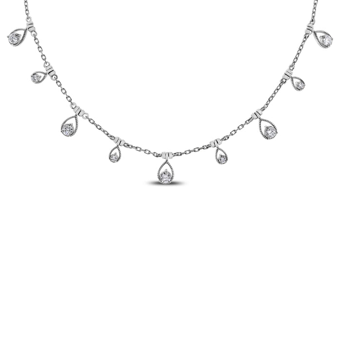 Drops of Jupiter Necklace (0.61 ct) White Gold