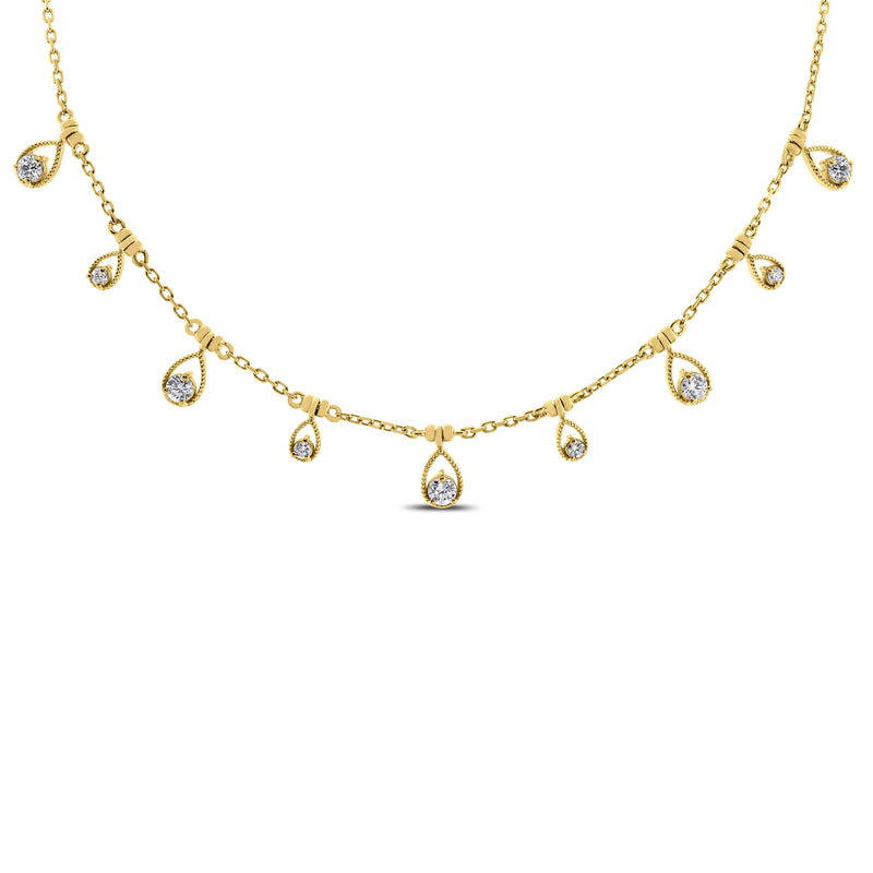 Drops of Jupiter Necklace (0.61 ct Diamonds) in Yellow Gold