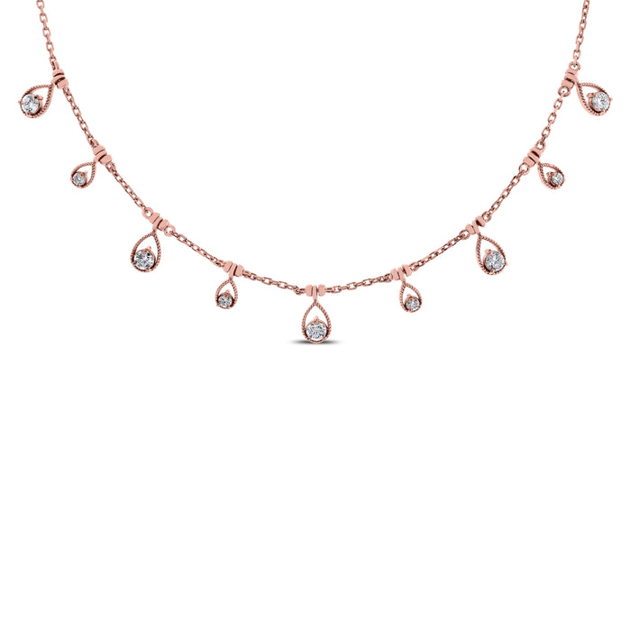 Drops of Jupiter Necklace (0.61 ct) Rose Gold