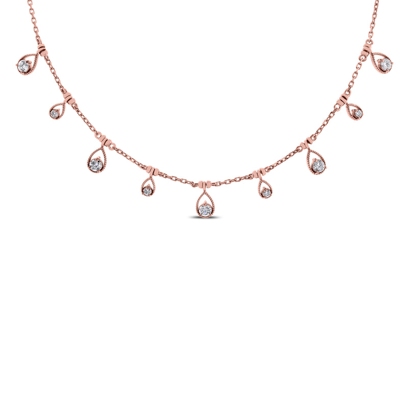 Drops of Jupiter Necklace (0.61 ct Diamonds) in White Gold