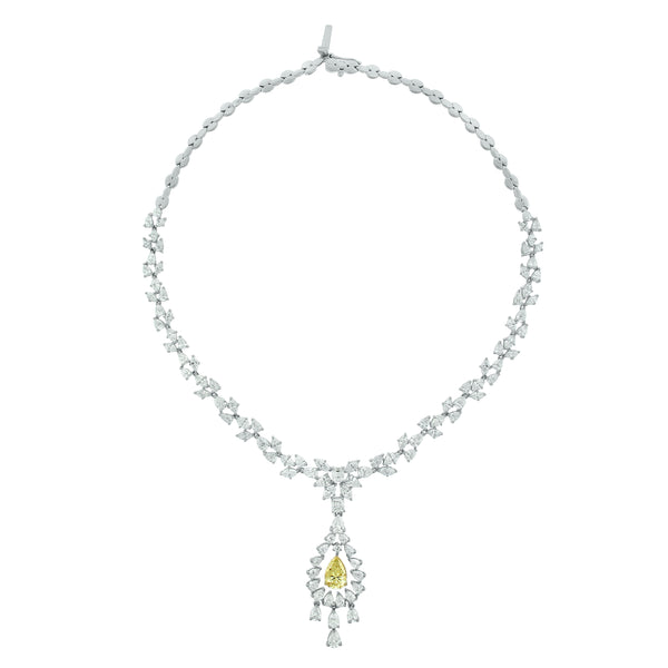 Amaya Diamond Necklace (22.45 ct Diamonds) in Gold
