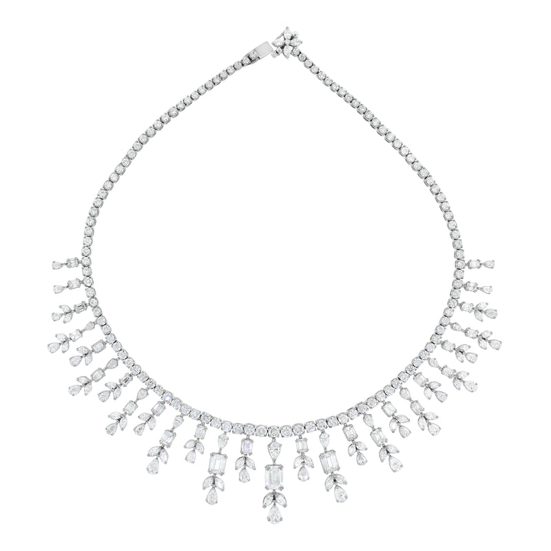 Michelle Diamond Necklace (26.31 ct Diamonds) in White Gold