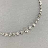 Graduated Space Riviera Tennis Necklace (14.76 ct Diamonds) in Platinum