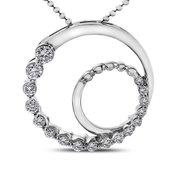 Generations Pendant (0.86 ct Diamonds) in White Gold