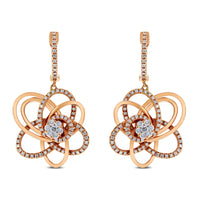 Bloom Diamond Earrings & Ring Set (1.35 ct Diamonds) in Rose Gold