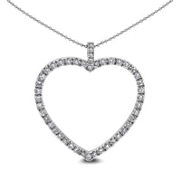 All My Heart Diamond Pendant (1.08 ct Diamonds) in White Gold