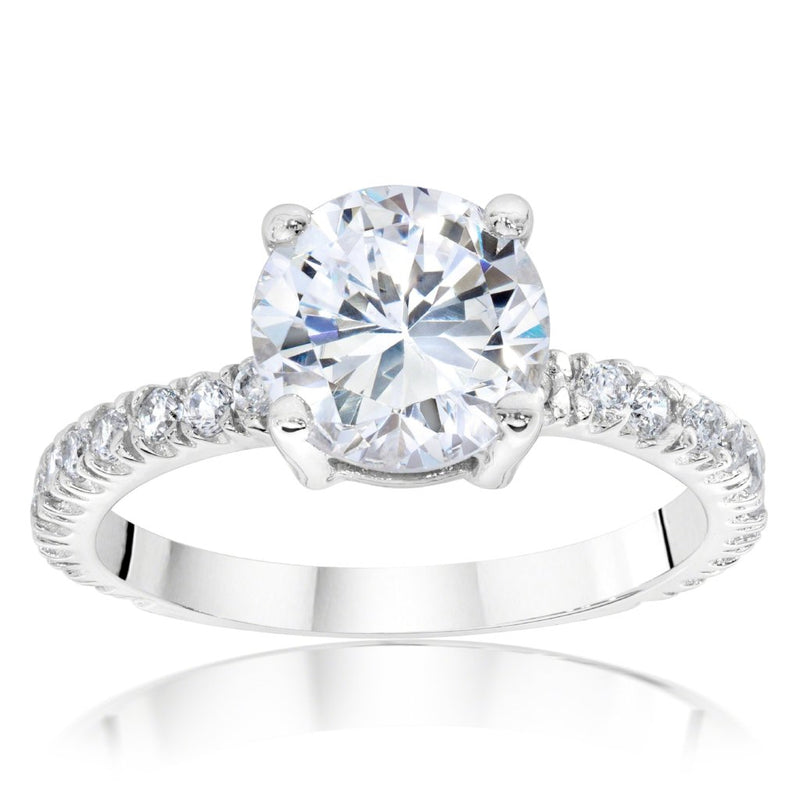 Lana Engagement Ring Bridal Set (2.04 ct Round FSI2 EGLUSA Diamond) in White Gold