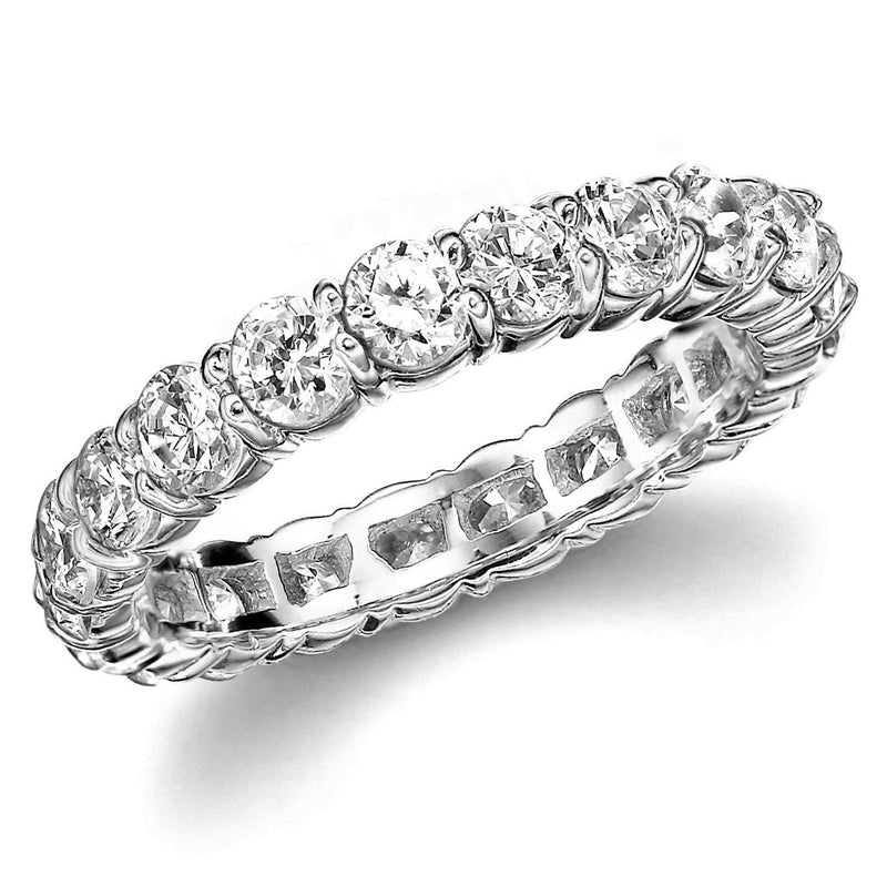 Diamond Eternity Wedding Band (1.90 ct Diamonds) in White Gold