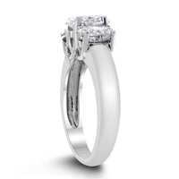 Past Present & Future Engagement Ring (1.10 ct Oval FI1 EGLUSA Diamond) in Platinum