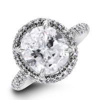 Sahara Engagement Ring (3.48 ct Cushion HSI2 EGLUSA Diamond) in Platinum