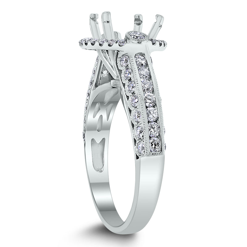Silvana Engagement Setting for a 2 ct Round (0.94 ct Diamonds) in White Gold