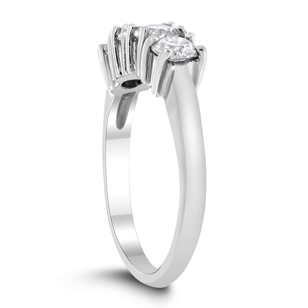 4 Stone Diamond Ring (0.96 ct Diamonds) in Platinum