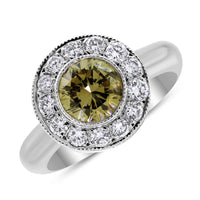 Chocolate Diamond Ring (0.84 ct Round Fancy Brown Diamond) in White Gold