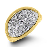 Crimson Diamond Band (0.75 ct Diamonds) in Yellow Gold