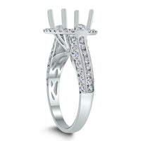 Silvana Engagement Setting for a 3 ct Round (1.00 ct Diamonds) in White Gold