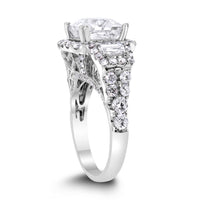 Gladys Engagement Ring (3.02 ct Princess Cut HI2 EGLUSA Diamond) in White Gold