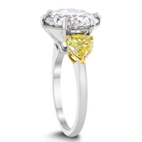Sun & Moon Engagement Ring (6.20 ct Round JVVS1 EGLUSA Diamond) in Platinum