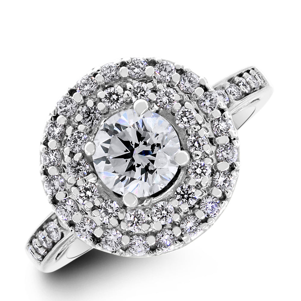 Cosmos Diamond Engagement Ring (0.80 ct Round GVS2 EGLUSA Diamond) in White Gold