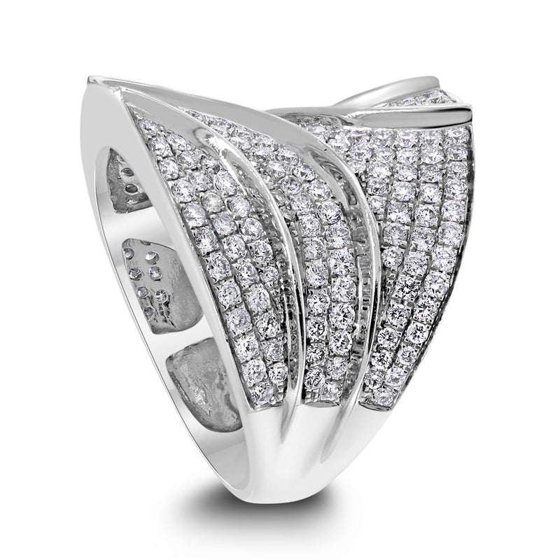 California Diamond Band (2.00 ct Diamonds) in White Gold