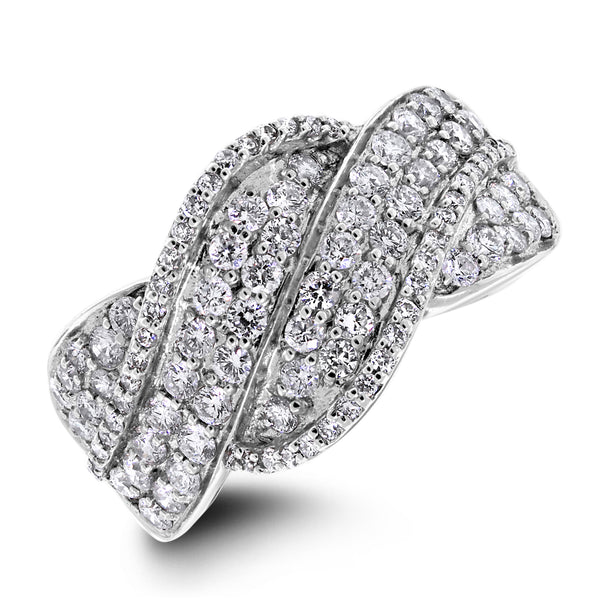 Meera Diamond Band (1.40 ct Diamonds) in White Gold