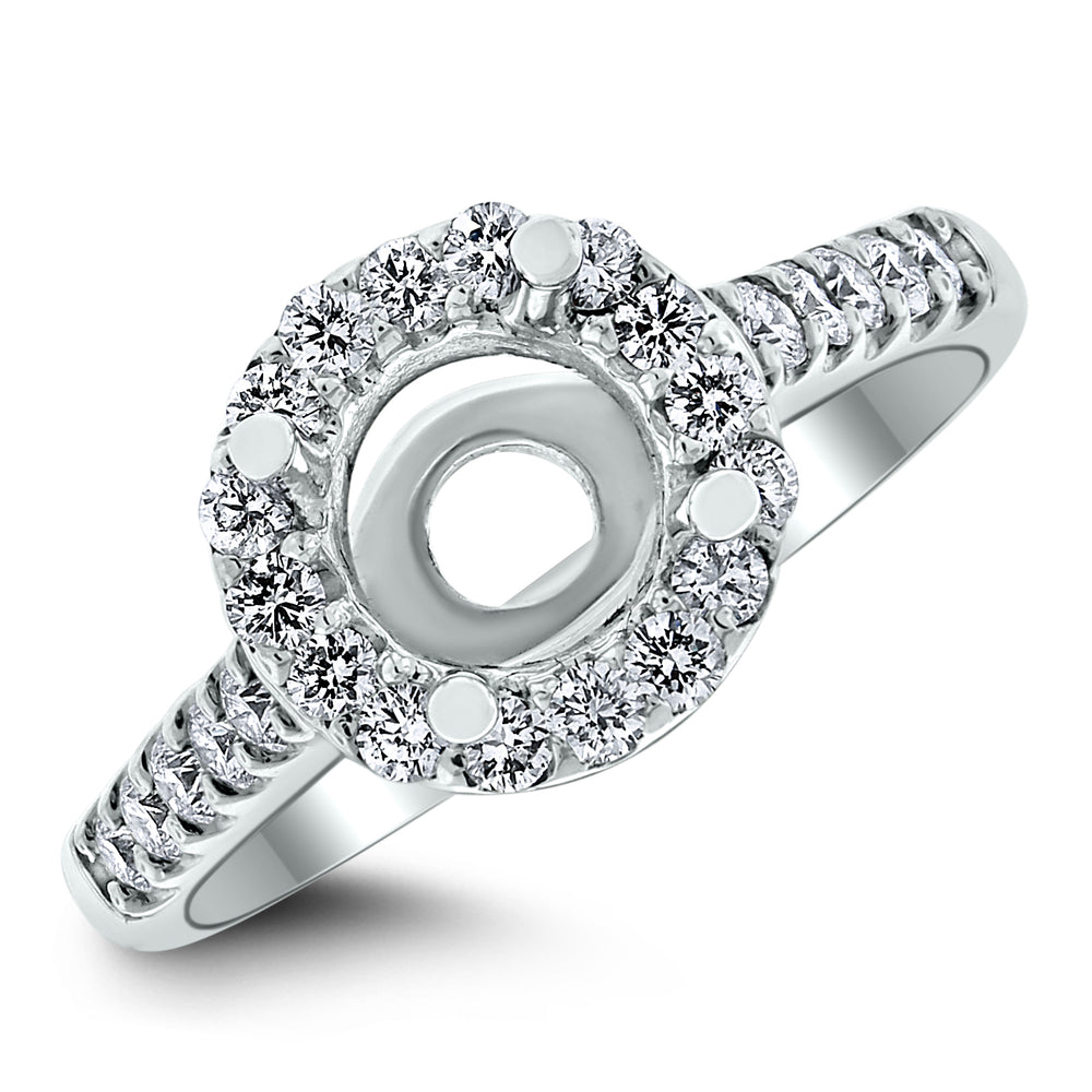 Liva Engagement Setting for a 1 ct Round (0.60 ct Diamonds) in White Gold