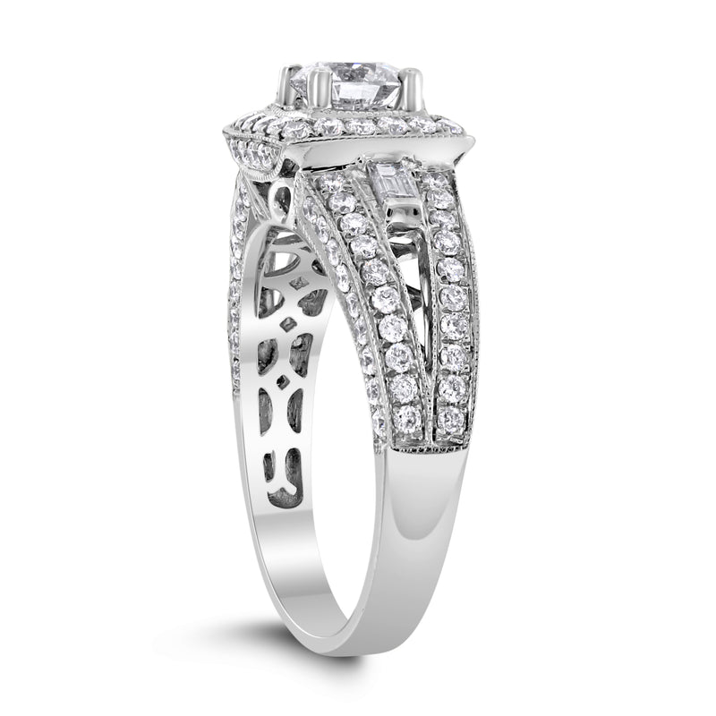 Larissa Engagement Ring (0.58 ct Round ISI3 EGLUSA Diamond) in White Gold