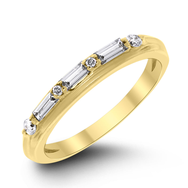 Serena Engagement Ring Bridal Set (1.50 ct Round HSI3 EGLUSA Diamond) in Yellow Gold