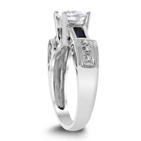Scrolls Engagement Ring (1.41 ct Round HI1 EGLUSA Diamond) in White Gold