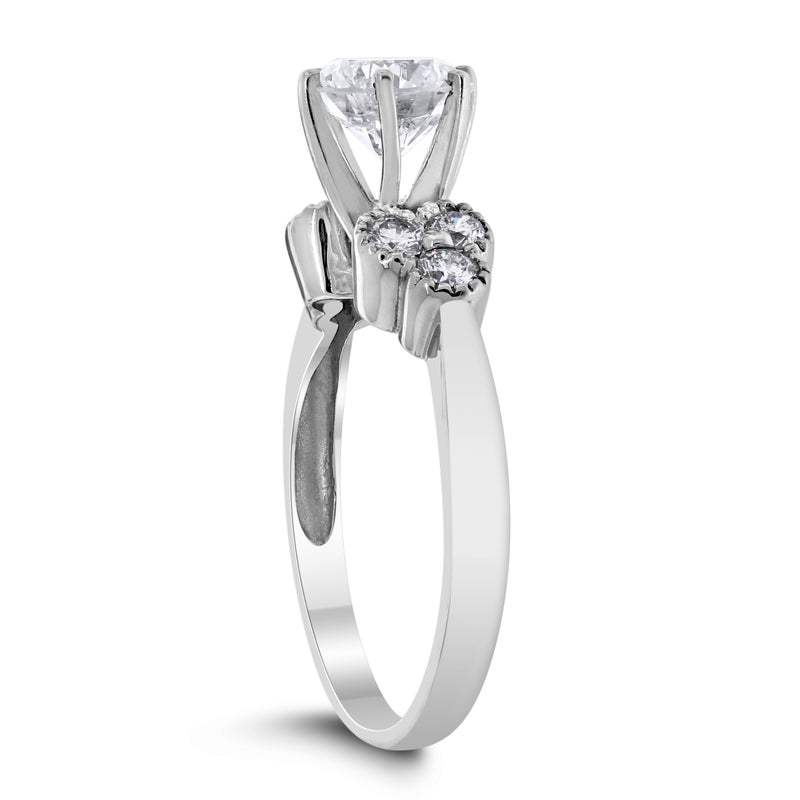 Brilliance Engagement Ring (1.19 ct Round GI1 EGLUSA Diamond) in White Gold