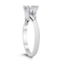 Reena Engagement Ring (0.90 ct Princess FSI3 EGLUSA Diamond) in White Gold