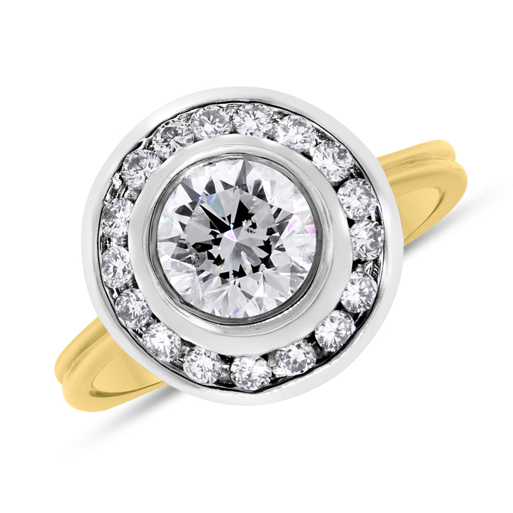 Generations Engagement Ring (1.06 Round FI1 EGLUSA Diamond) in Gold