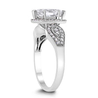 White Swan Engagement Ring (1.00 ct Marquise IJ SI1 Diamond) in White Gold