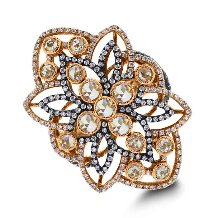 Cassandra Diamond Ring (1.89 ct Diamonds) in Rose Gold