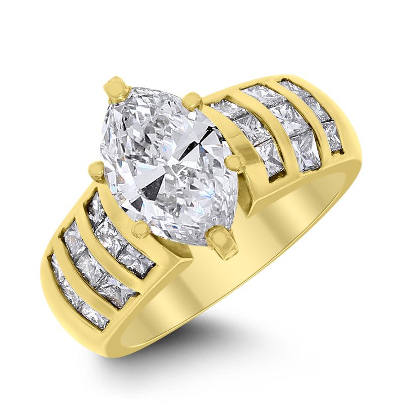 Sylvia Engagement Ring (2.03 ct Marquise JSI2 Diamond) in Yellow Gold