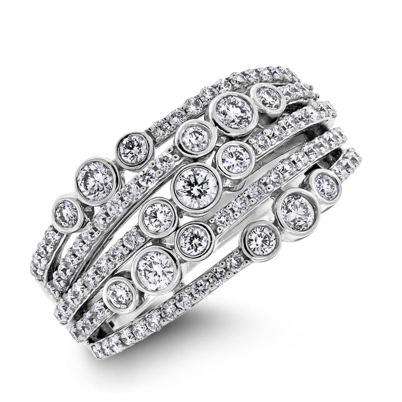 Constellations Diamond Ring (1.00 ct Diamonds) in White Gold