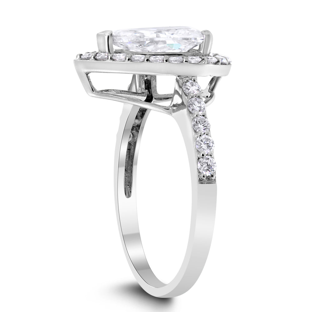 Shauna Engagement Ring (1.44 ct Pear Shape ESI1 EGLUSA Diamond) in White Gold