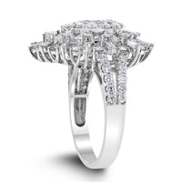 Olivia Diamond Ring (2.57 ct Diamonds) in White Gold