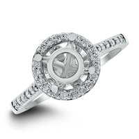Blossom Engagement Setting for a 1.25 ct Round (0.35 ct Diamonds) in White Gold