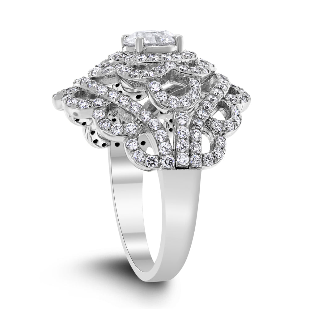 Rebecca Diamond Ring (2.21 ct Diamonds) in White Gold